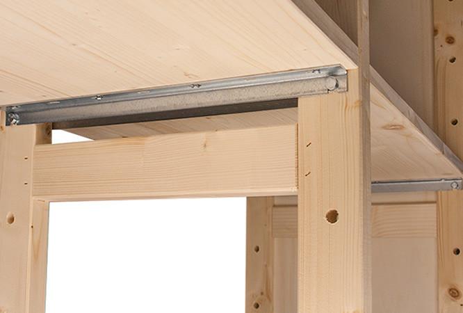 Houten stellingkast voor thuis - Scheiding houten ...